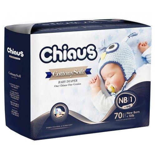 Chiaus подгузники Cottony Soft NB (0-5 кг) 70 шт.Подгузники<br>