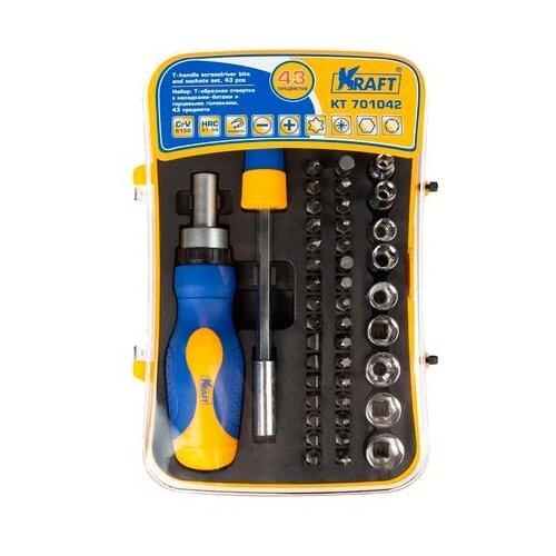 Набор инструментов KRAFT (43 предм.) KT 701042 набор инструментов kraft professional с сумкой 23 предметов