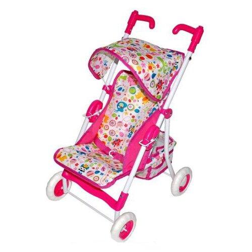цена на Прогулочная коляска Mary Poppins Фантазия малиновая 67323 малиновый/белый
