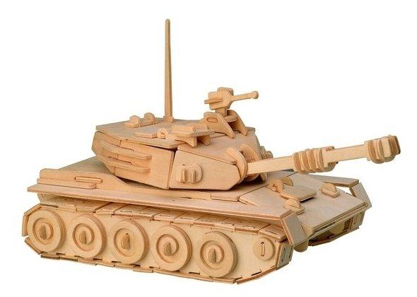 Сборная модель Мир деревянных игрушек Танк (П050)