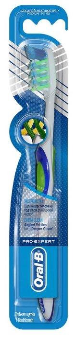Зубная щетка Oral-B Pro-Expert Экстра-чистка: средней жесткости, синий/зеленый