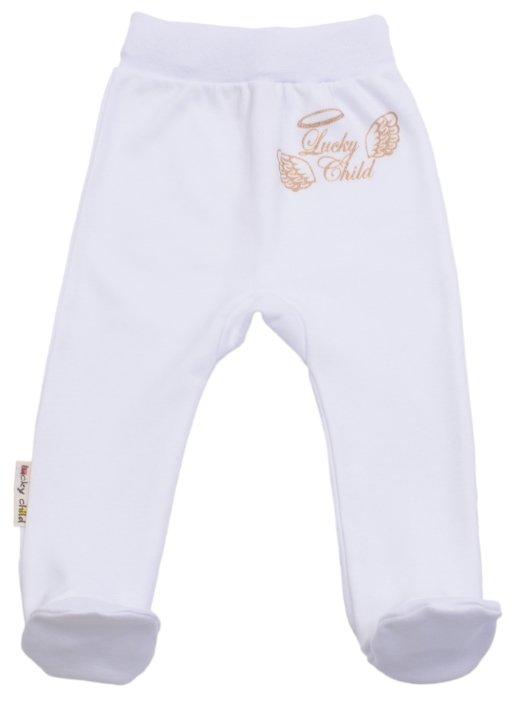 Ползунки Lucky Child цвет: белый, для малышей, размер 62-68