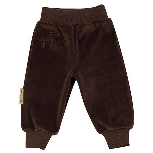 Купить Брюки lucky child размер 26 (80-86), кофейный, Брюки и шорты