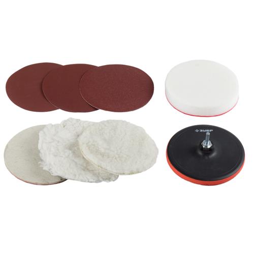 Тарелка для УШМ на липучке ЗУБР 3591-125-H7 125 мм 8 шт тарелка для ушм практика 038 524 125 мм 1 шт