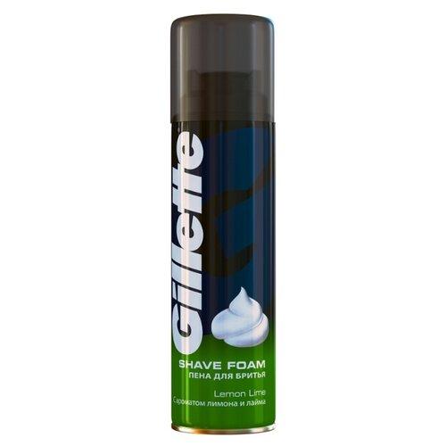 Пена для бритья Лимон-лайм Gillette 200 млСредства для бритья<br>