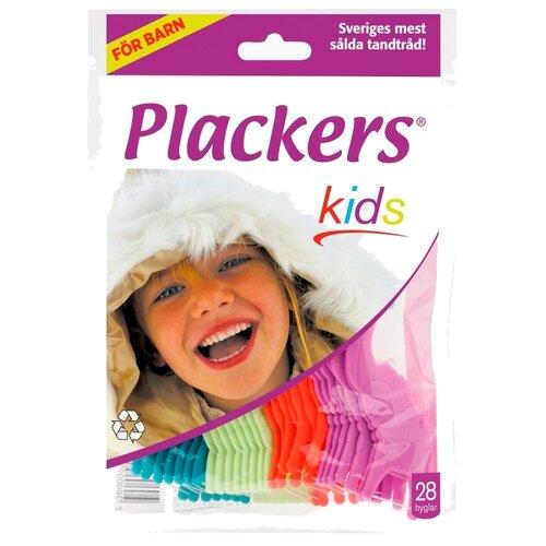 Plackers Kids флоссер для ухода за полостью рта, 28 шт.