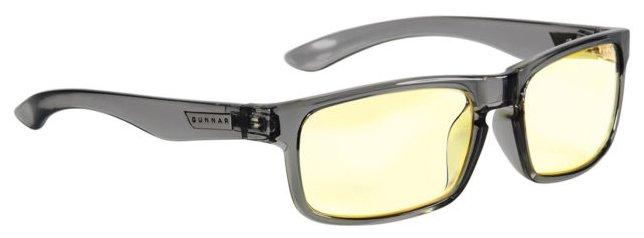 Очки для компьютера GUNNAR Enigma Smoke Amber, цвет оправы: серый, цвет линз: желтый