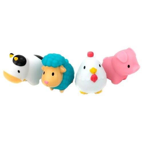 Купить Набор для ванной Munchkin Деревенские зверюшки (12000) белый/голубой/розовый, Игрушки для ванной