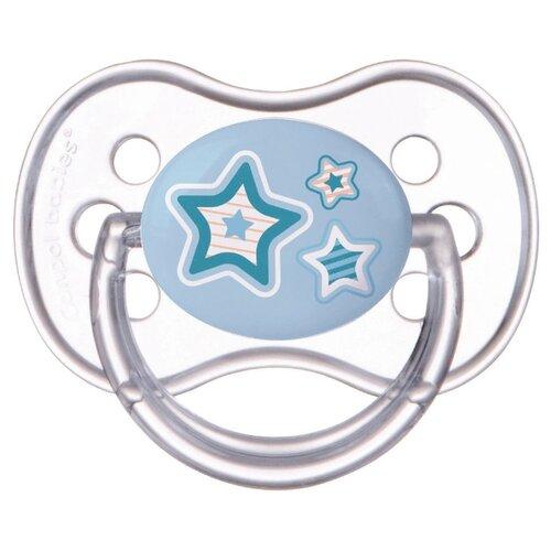 Купить Пустышка силиконовая анатомическая Canpol Babies Newborn Baby 0-6 м, голубой, Пустышки и аксессуары