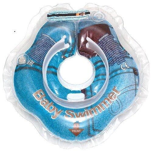 Круг на шею Baby Swimmer 0m+ (3-15 кг) Гламур джинсаКруги на шею<br>