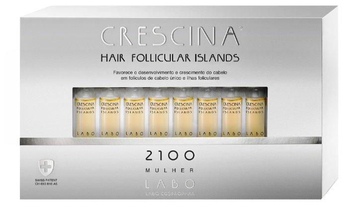 Crescina Ампулы для стимуляции роста волос для женщин, дозировка 2100: при запущенной стадии