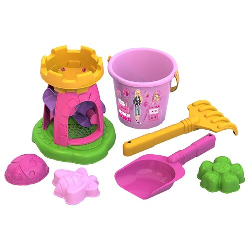 Купить Набор Нордпласт 431840 Барби №5 розовый/желтый/зеленый/фиолетовый, Наборы в песочницу