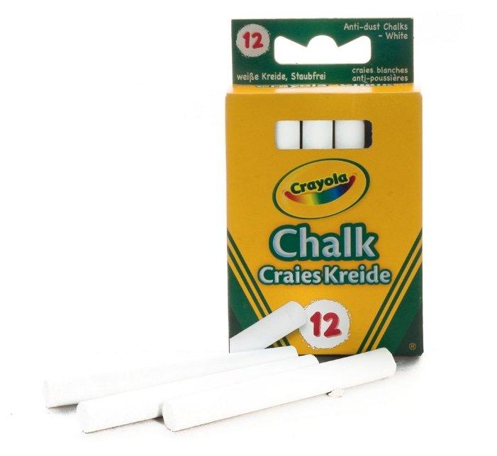 Crayola Мелки белые неосыпающиеся 12 шт 0280C