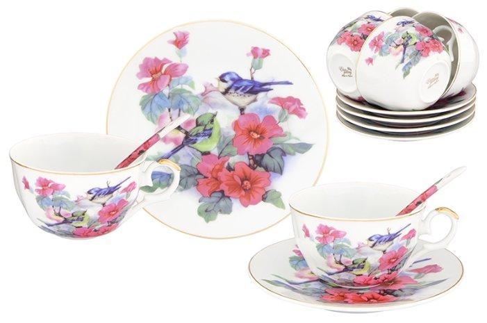 Чайный сервиз Elan gallery Синички в цветах