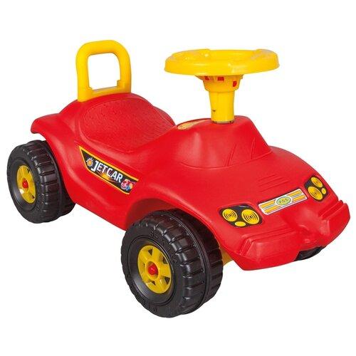 Купить Каталка-толокар pilsan Jet Car (06806) со звуковыми эффектами красный, Каталки и качалки