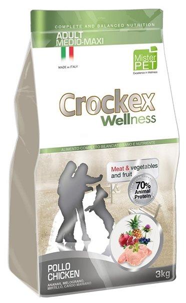 Корм для собак Crockex Wellness Adult Medio-Maxi курица с рисом