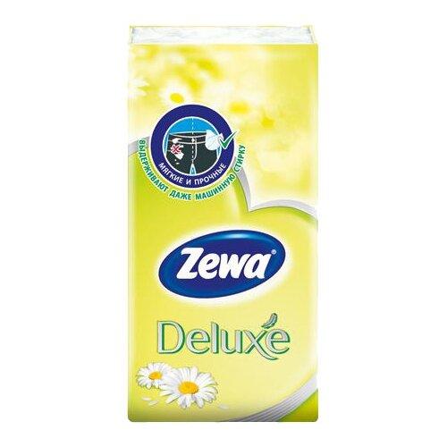 Платочки Zewa Deluxe Ромашка бумажные носовые, 3 слоя, 10 шт. недорого