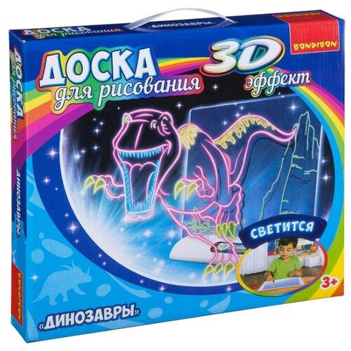 Купить Доска для рисования детская BONDIBON Динозавры с 3D эффектом (ВВ3114), Доски и мольберты
