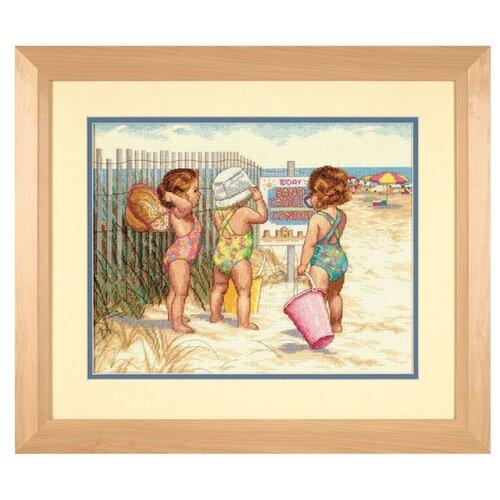 Купить Dimensions Набор для вышивания крестиком Дети на пляже 36 х 28 см (35216), Наборы для вышивания