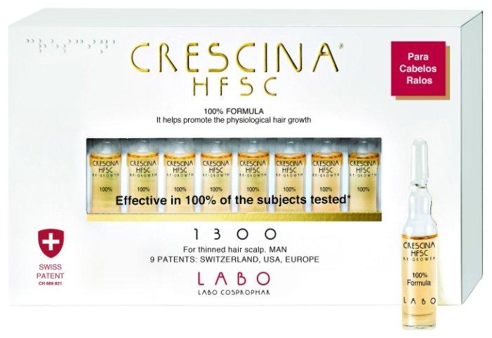 Crescina Ампулы для стимуляции роста волос для мужчин, дозировка 1300: лечение облысения