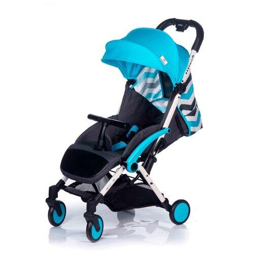 Прогулочная коляска Babyhit Amber Plus светло-голубой/зигзаг коляска прогулочная babyhit floret джинс