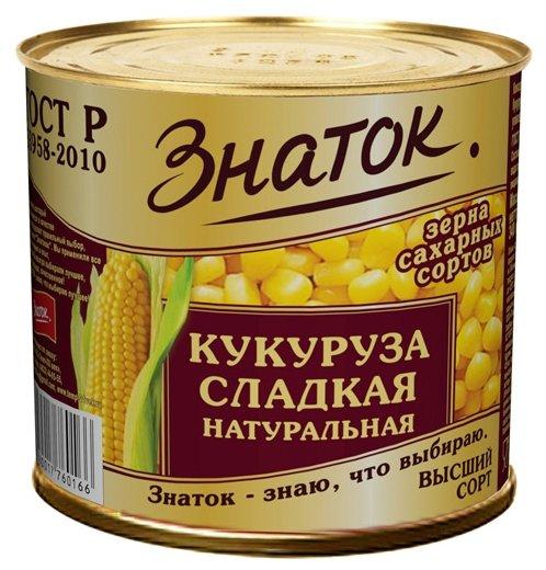 Кукуруза сладкая натуральная Знаток жестяная банка 425 г