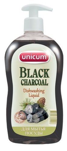 Unicum Средство для мытья посуды Black charcoal