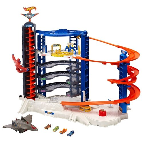 Купить Hot Wheels Игровой набор Hot Wheels Super Ultimate Garage, 6-ти уровневый паркинг FDF25 синий/оранжевый, Детские парковки и гаражи