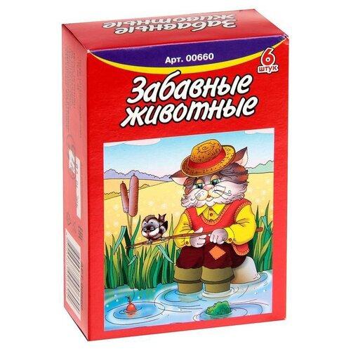 Кубики-пазлы Десятое королевство Забавные животные 00660Детские кубики<br>