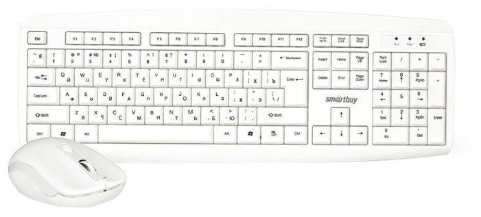 SmartBuy Клавиатура и мышь SmartBuy SBC-212332AG-W White USB