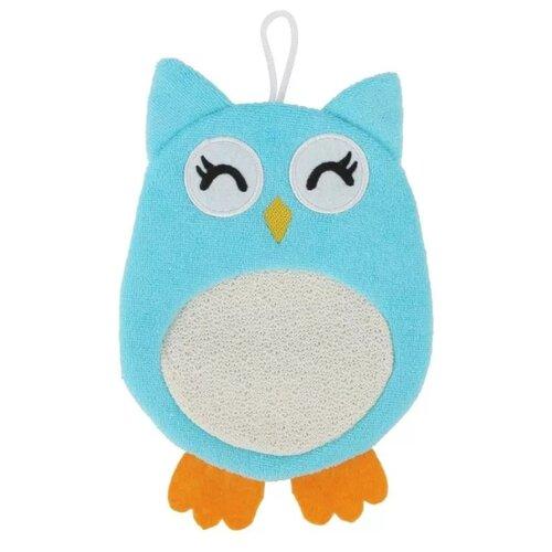 Мочалка ROXY-KIDS Baby Owl голубой