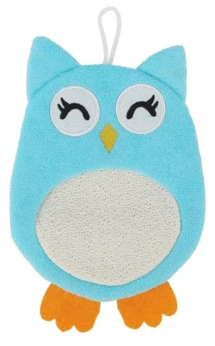 Мочалка-рукавичка махровая Baby Owl, Roxy Kids (RBS-003)