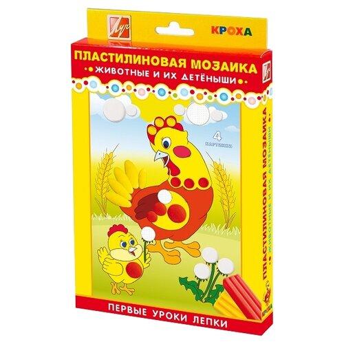 Купить Пластилин Луч мозаика Животные и их детёныши (26С1605-08), Пластилин и масса для лепки