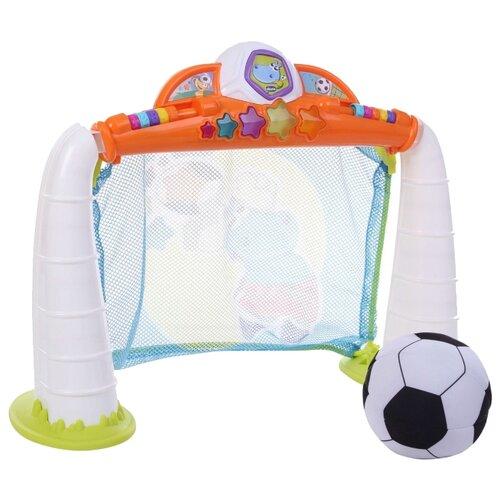 Игровой центр Chicco Fit&Fun Футбольная лига (05225) белый/оранжевый chicco игровой центр каталка baby walker 2 в 1 chicco