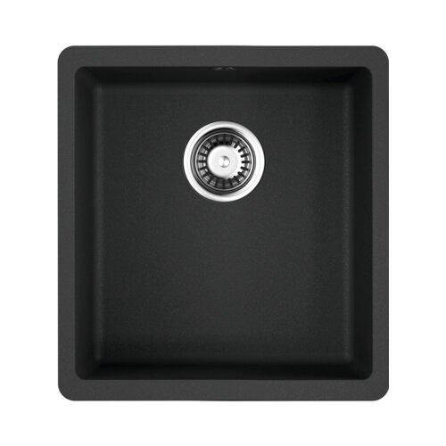 Врезная кухонная мойка 40 см OMOIKIRI Kata 40-U 4993396 черный