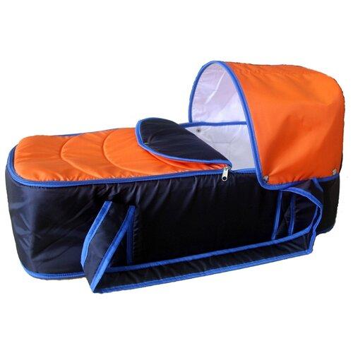 Люлька-переноска Карапуз Кокон синий/оранжевый сумки переноски карапуз кокон
