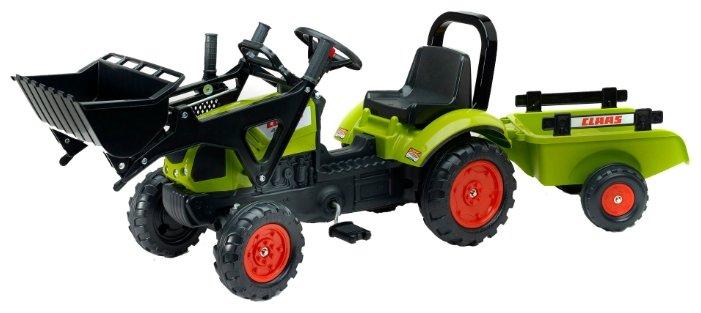 Веломобиль Falk Трактор-экскаватор с прицепом (1040AM)