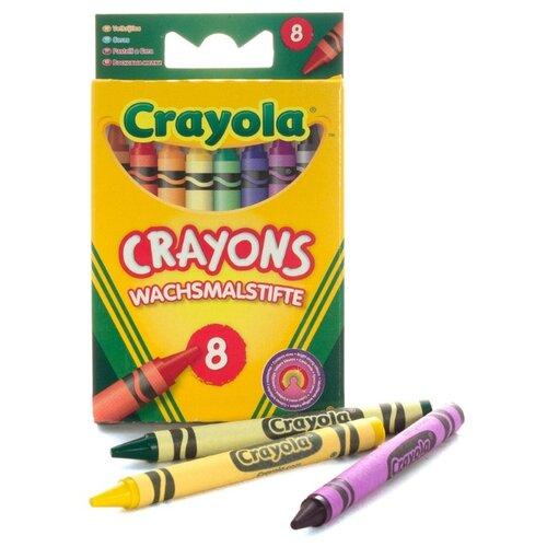 Купить Crayola Восковые мелки 8 цветов 0008C, Пастель и мелки
