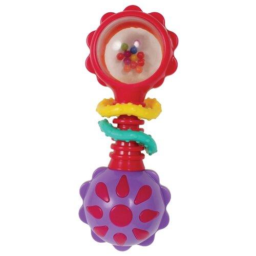 Купить Погремушка Playgro Twisting Barbell Rattle 4184183 красный/фиолетовый, Погремушки и прорезыватели