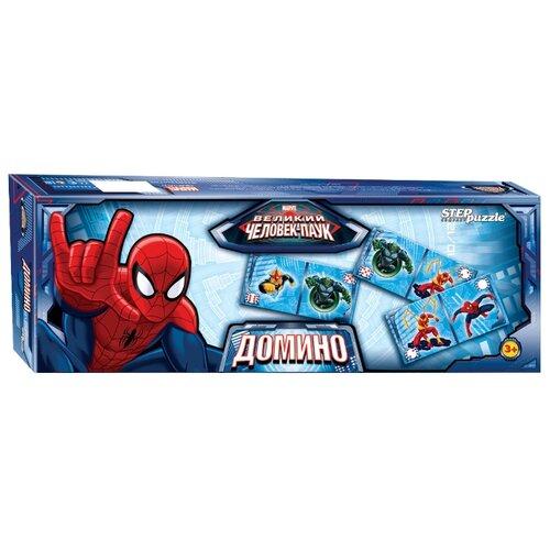 Настольная игра Step puzzle Домино Человек-паук (Marvel) настольная игра step puzzle домино disney тачки 80107
