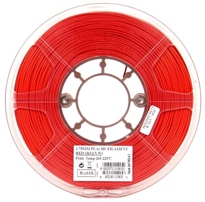 PLA+ пруток ESUN 1.75 мм красный 1 кг фото 1