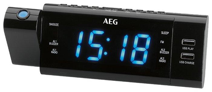 Радиоприемник Часы с радиоприёмником AEG MRC 4159 P чёрный