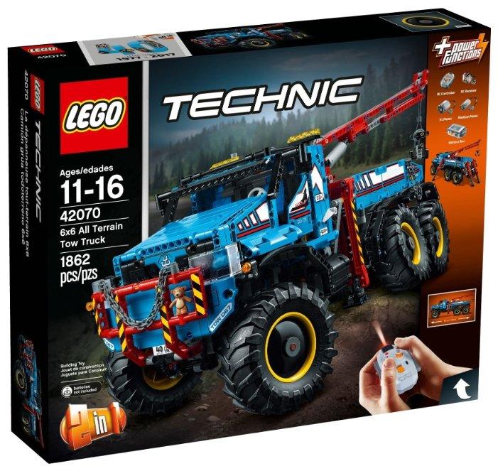 Конструктор LEGO Technic 42070 Конструктор лего Техник Аварийный внедорожник 6х6