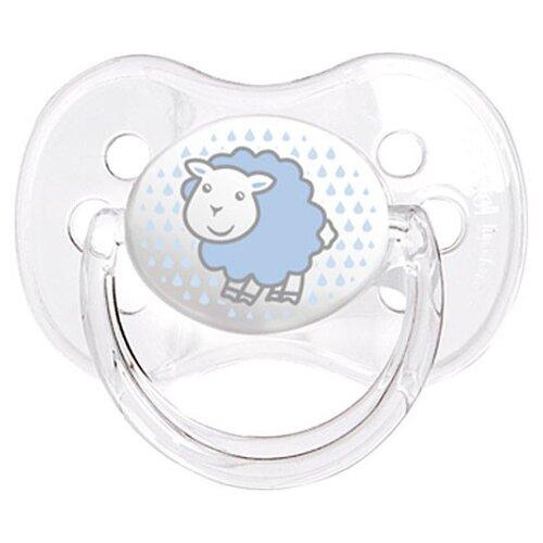 Купить Пустышка силиконовая классическая Canpol Babies Transparent 18+ (1 шт) голубой, Пустышки и аксессуары