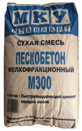 Пескобетон Мансуровское карьероуправление М300 мелкофракционный, 40 кг