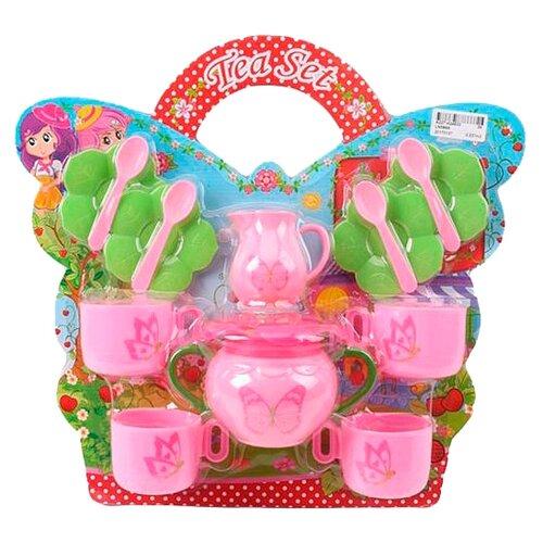 Набор посуды Shantou Gepai Бабочки LN589A розовый