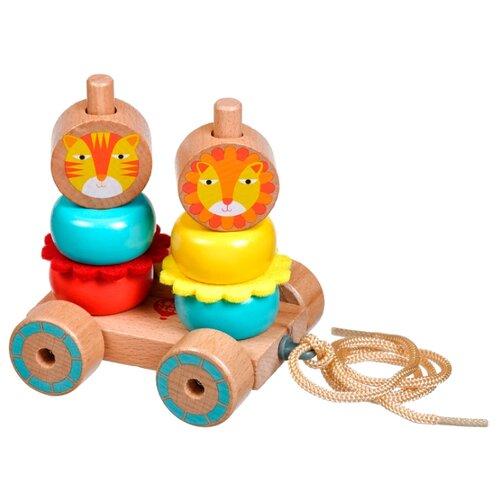 Фото - Каталка-игрушка Мир деревянных игрушек Лев и Львица (LL155) бежевый/голубой лев и львица