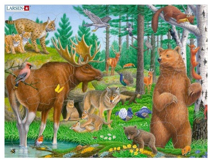 Рамка-вкладыш Larsen Лесные животные (FH36), 28 дет.