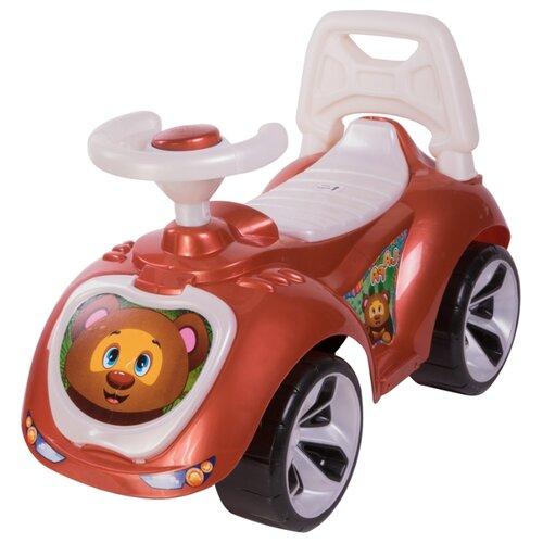 Купить Каталка-толокар Orion Toys Лапка (758) со звуковыми эффектами коричневый, Каталки и качалки