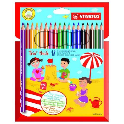 Купить STABILO Цветные карандаши Trio thick 18 цветов (203/18-01)